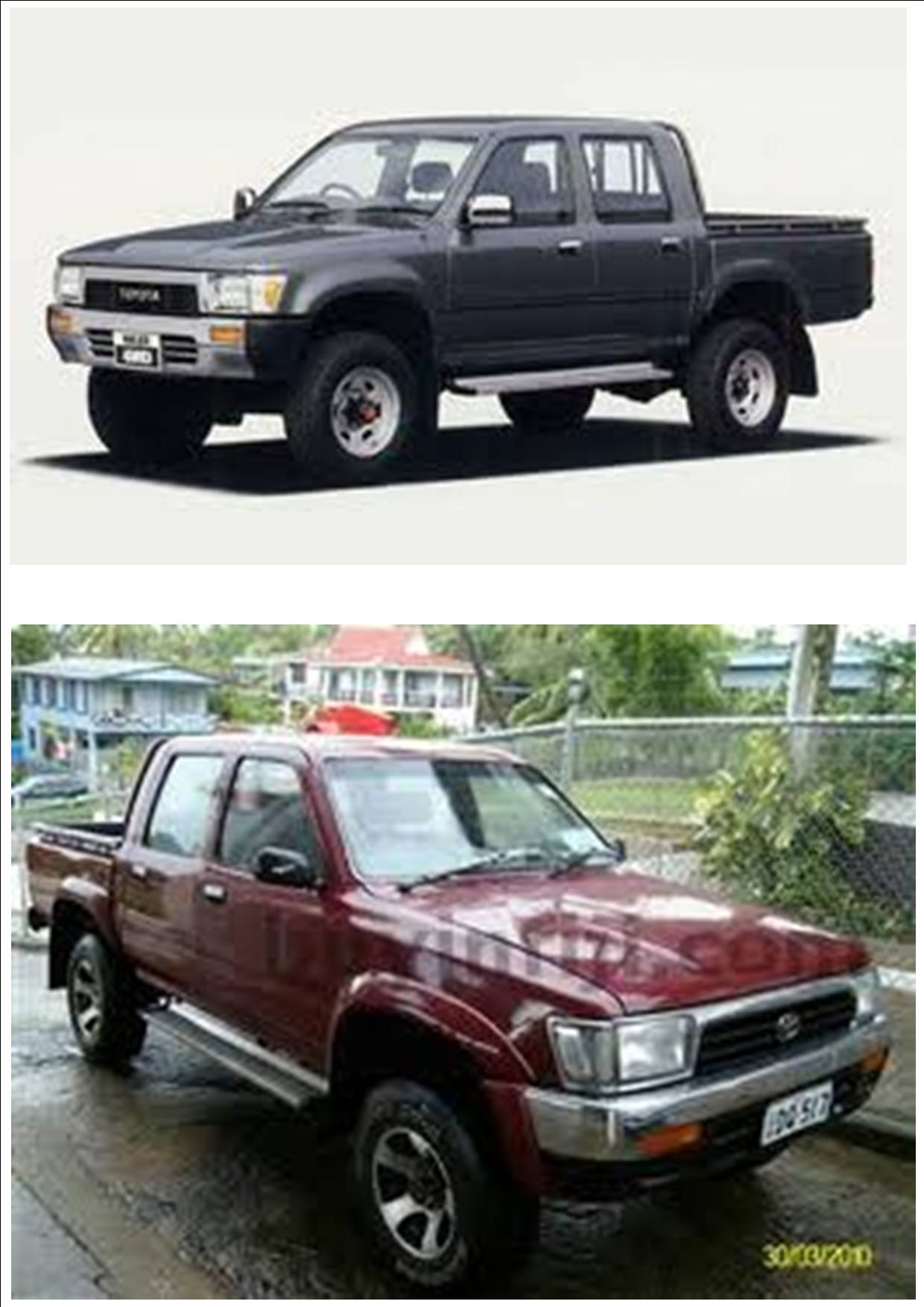 Listing All Parts For Toyota Hilux 1989 1996 Ln106 4wd
